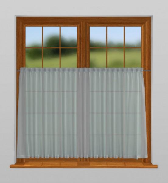 scheibengardine nach ma mit durchzug wasser blau charme. Black Bedroom Furniture Sets. Home Design Ideas