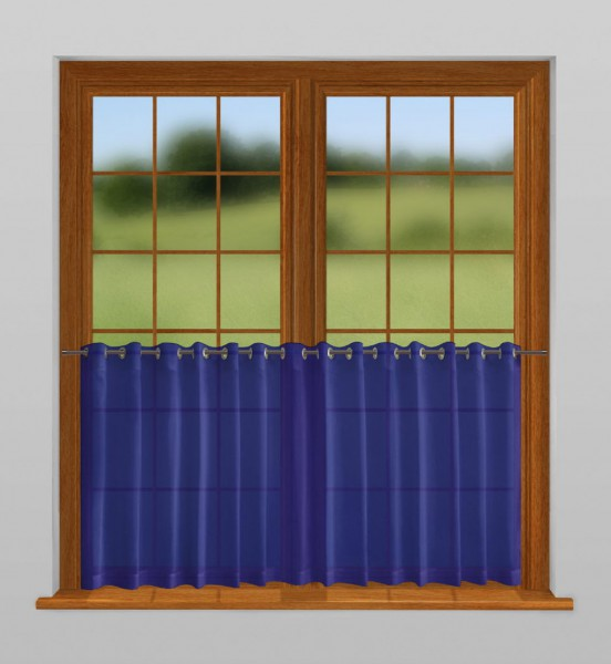 scheibengardine nach ma mit sen mitternacht blau indigo. Black Bedroom Furniture Sets. Home Design Ideas