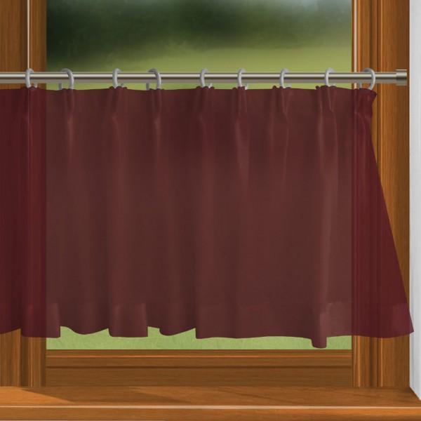 scheibengardine nach ma mit durchzug monarch rot charme. Black Bedroom Furniture Sets. Home Design Ideas