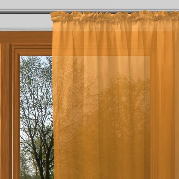 gardinen uni voile nach ma kr uselband voile neon carrot. Black Bedroom Furniture Sets. Home Design Ideas