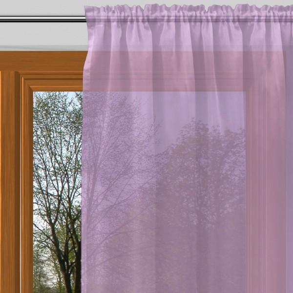 gardine nach ma mit tunnel voile prelude violett alma. Black Bedroom Furniture Sets. Home Design Ideas