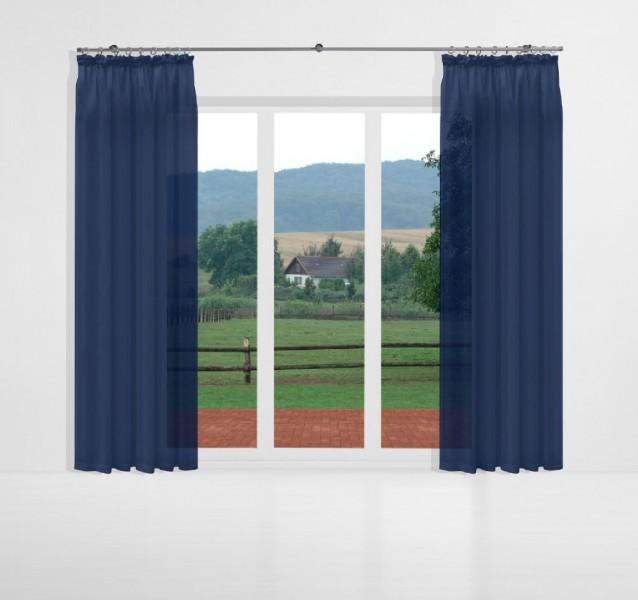 gardinen uni voile nach ma kr uselband voile prussian. Black Bedroom Furniture Sets. Home Design Ideas