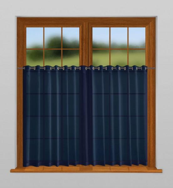 scheibengardine nach ma mit sen prussian blau indigo. Black Bedroom Furniture Sets. Home Design Ideas