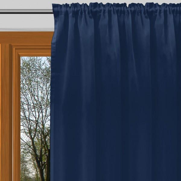 gardine nach ma mit tunnel k pfchen blickdicht verdunkelung black out regal blau sil. Black Bedroom Furniture Sets. Home Design Ideas
