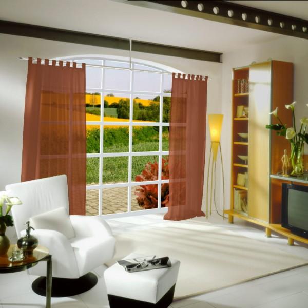 gardinen uni voile nach ma schlaufenschal voile rich gold terra gardinen nach ma. Black Bedroom Furniture Sets. Home Design Ideas