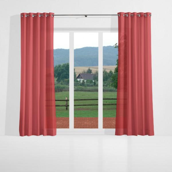 gardinenstoff ezel halbtransparent uni voile rot top qualit t gardinenstoffe voile uni. Black Bedroom Furniture Sets. Home Design Ideas