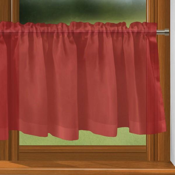 scheibengardine nach ma mit tunnel rot bahama. Black Bedroom Furniture Sets. Home Design Ideas