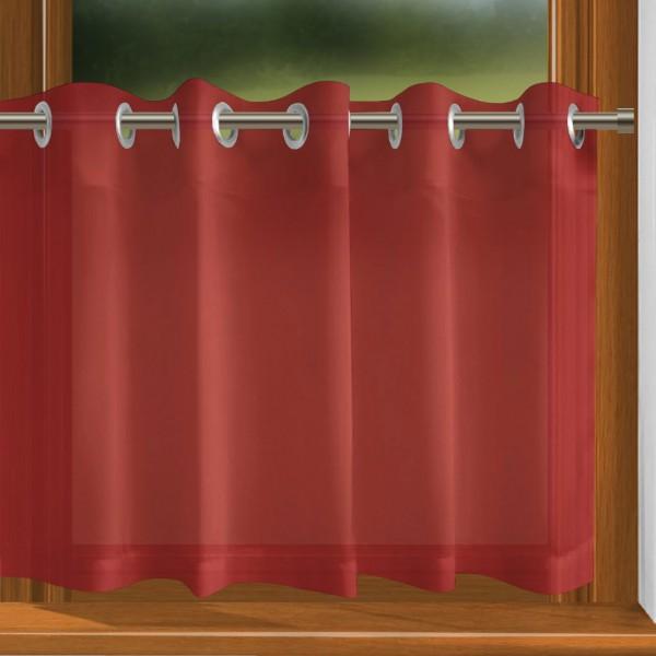 scheibengardine nach ma mit sen rot indigo. Black Bedroom Furniture Sets. Home Design Ideas