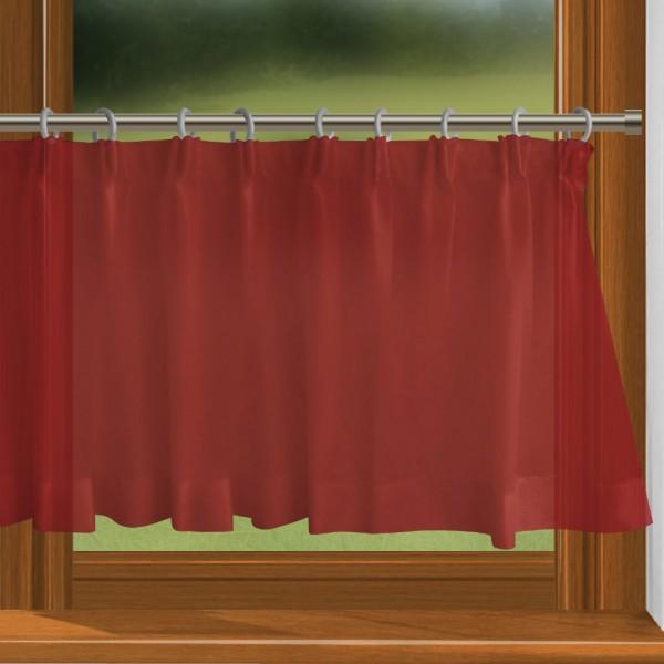 scheibengardine nach ma mit durchzug rot charme. Black Bedroom Furniture Sets. Home Design Ideas