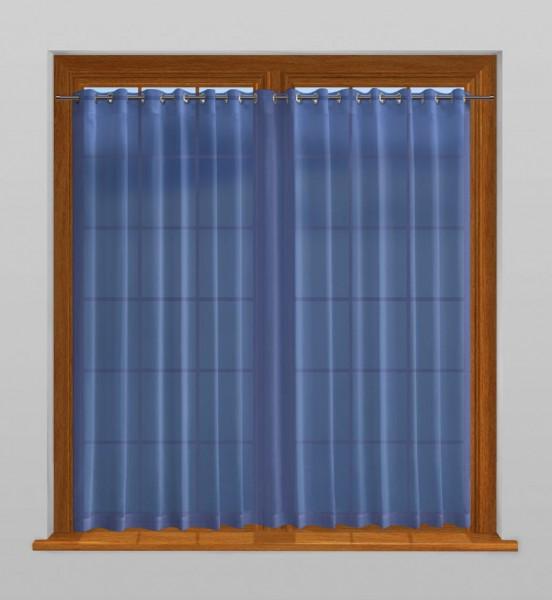 scheibengardine nach ma mit sen san marino blau indigo. Black Bedroom Furniture Sets. Home Design Ideas