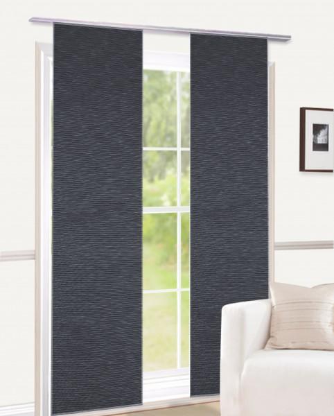 schiebegardine halbtransparenter stoff naturoptik. Black Bedroom Furniture Sets. Home Design Ideas