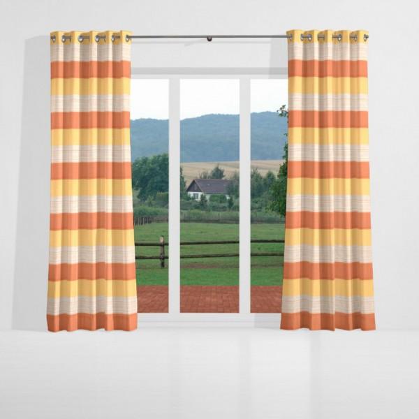 gardinen nach ma senschal leicht dekostoff terra gelb. Black Bedroom Furniture Sets. Home Design Ideas