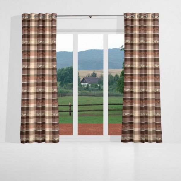 gardinen nach ma senschal dekostoff schokobraun braun. Black Bedroom Furniture Sets. Home Design Ideas