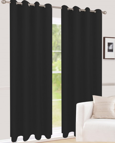 senvorhang einfarbig blickdicht dekostoff schwarz vita senschals einfarbig senschals. Black Bedroom Furniture Sets. Home Design Ideas