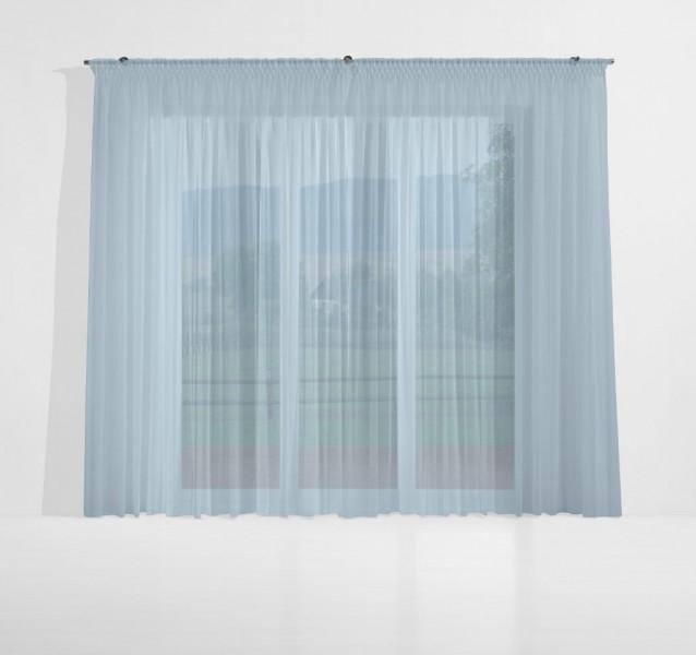 gardinenstoff ezel halbtransparent uni voile spindel blau top qualit t gardinenstoffe. Black Bedroom Furniture Sets. Home Design Ideas