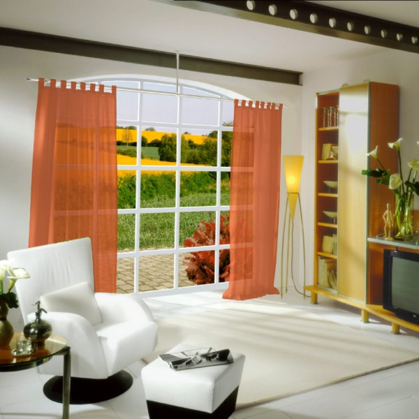 gardinen uni voile nach ma schlaufenschal voile tahiti. Black Bedroom Furniture Sets. Home Design Ideas