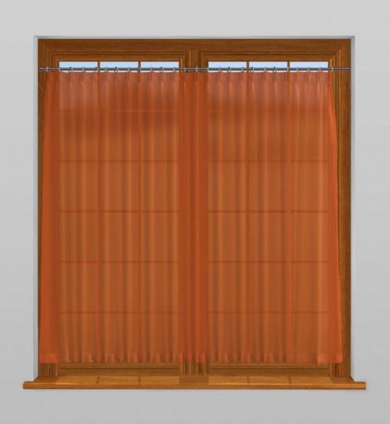 scheibengardine nach ma mit durchzug tahiti gold orange. Black Bedroom Furniture Sets. Home Design Ideas