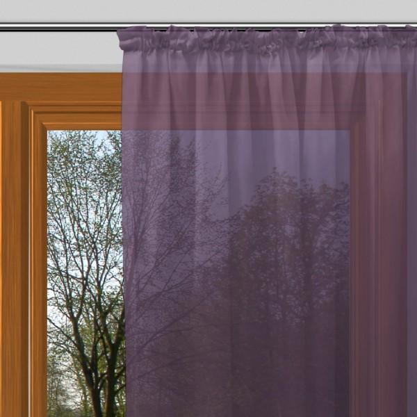 gardinen uni voile nach ma kr uselband voile violett signum ma anfertigung gardinen. Black Bedroom Furniture Sets. Home Design Ideas