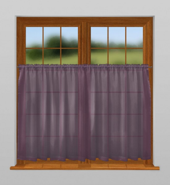 scheibengardine nach ma mit tunnel violett bahama. Black Bedroom Furniture Sets. Home Design Ideas