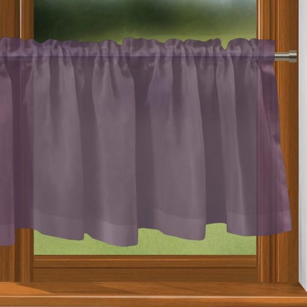 scheibengardine nach ma mit tunnel violett bahama scheibengardinen nach ma mit. Black Bedroom Furniture Sets. Home Design Ideas