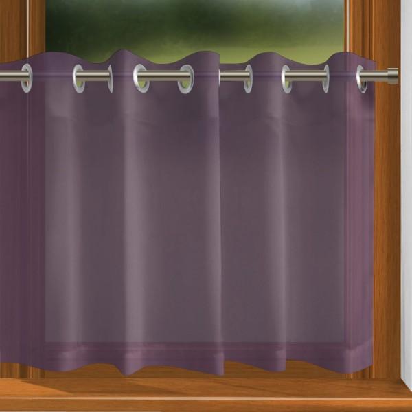 scheibengardine nach ma mit sen violett indigo. Black Bedroom Furniture Sets. Home Design Ideas