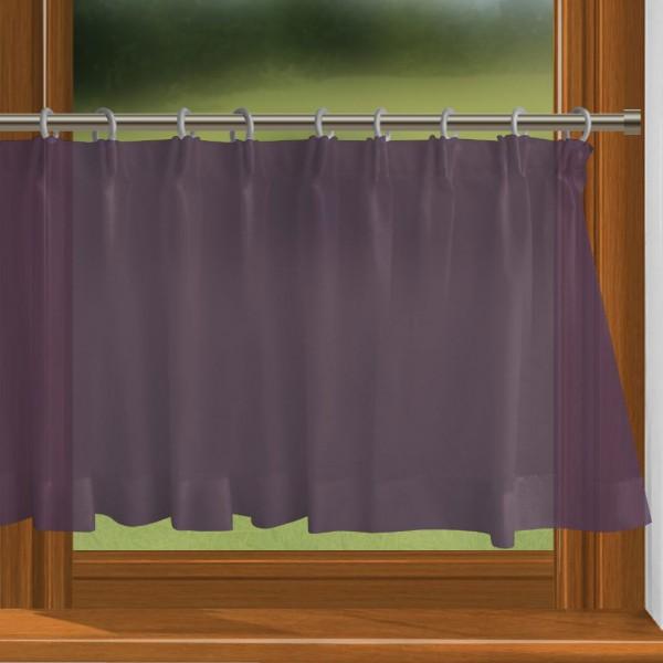 scheibengardine nach ma mit durchzug violett charme. Black Bedroom Furniture Sets. Home Design Ideas