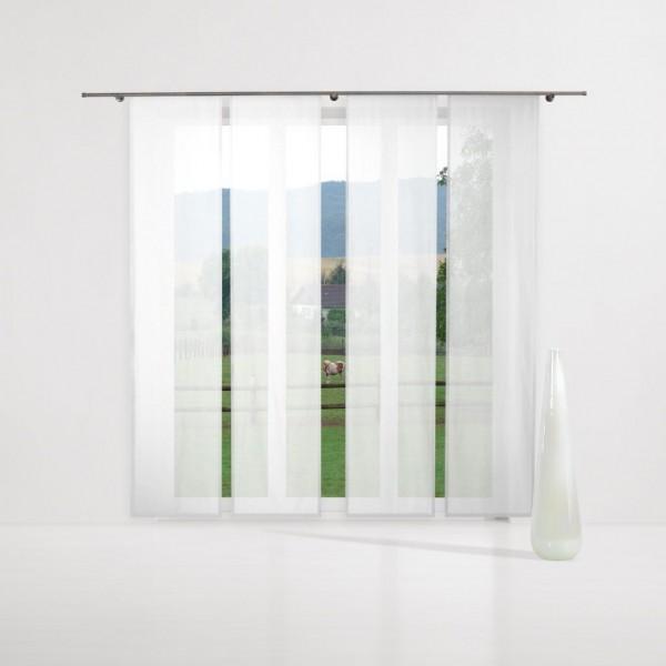 gardine uni voile nach ma schiebegardine komplettset wei gardinen nach ma schiebegardinen. Black Bedroom Furniture Sets. Home Design Ideas