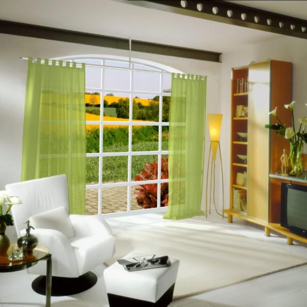 gardinen uni voile nach ma schlaufenschal voile wilde. Black Bedroom Furniture Sets. Home Design Ideas