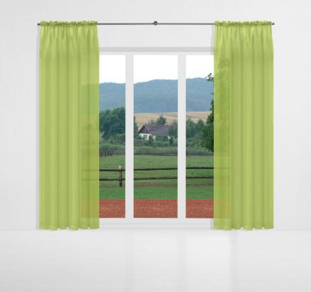 gardinen uni voile nach ma kr uselband voile wilde willow gr n signum gardinen nach ma mit. Black Bedroom Furniture Sets. Home Design Ideas