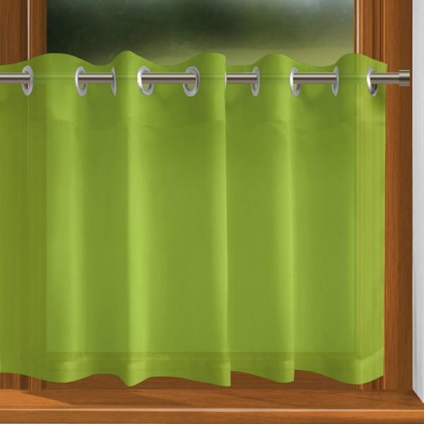scheibengardine nach ma mit sen gelb gr n indigo. Black Bedroom Furniture Sets. Home Design Ideas