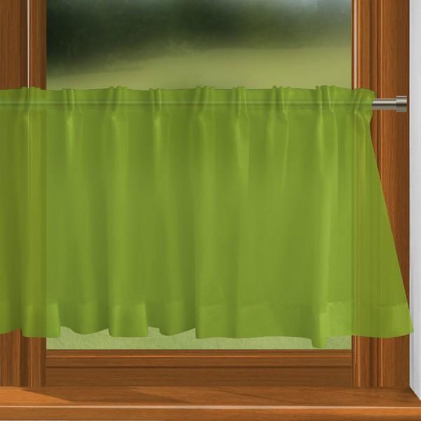 scheibengardine nach ma mit durchzug gelb gr n charme. Black Bedroom Furniture Sets. Home Design Ideas